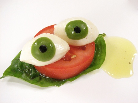 Caprese salad - too cute to eat?