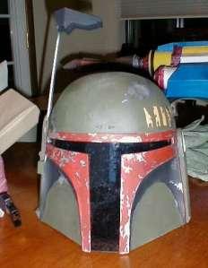 Cardboard Boba Fett Helmet
