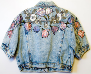 Jordache Embellished Denim Jacket 1980s