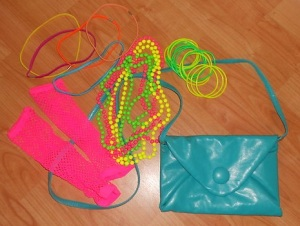 Pick up 80's accessories on ebay for a bargain