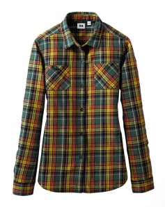 Checked Flannel Shirt from Uniqlo