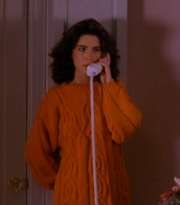 Donna Hayward Orange Sweater