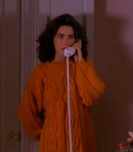 Donna Hayward Orange Sweater