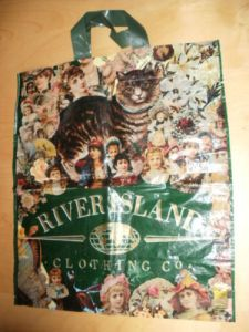 """Vintage"" River Island carrier bag from the 1990's"
