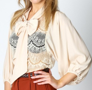 Lace Blouse from Boohoo