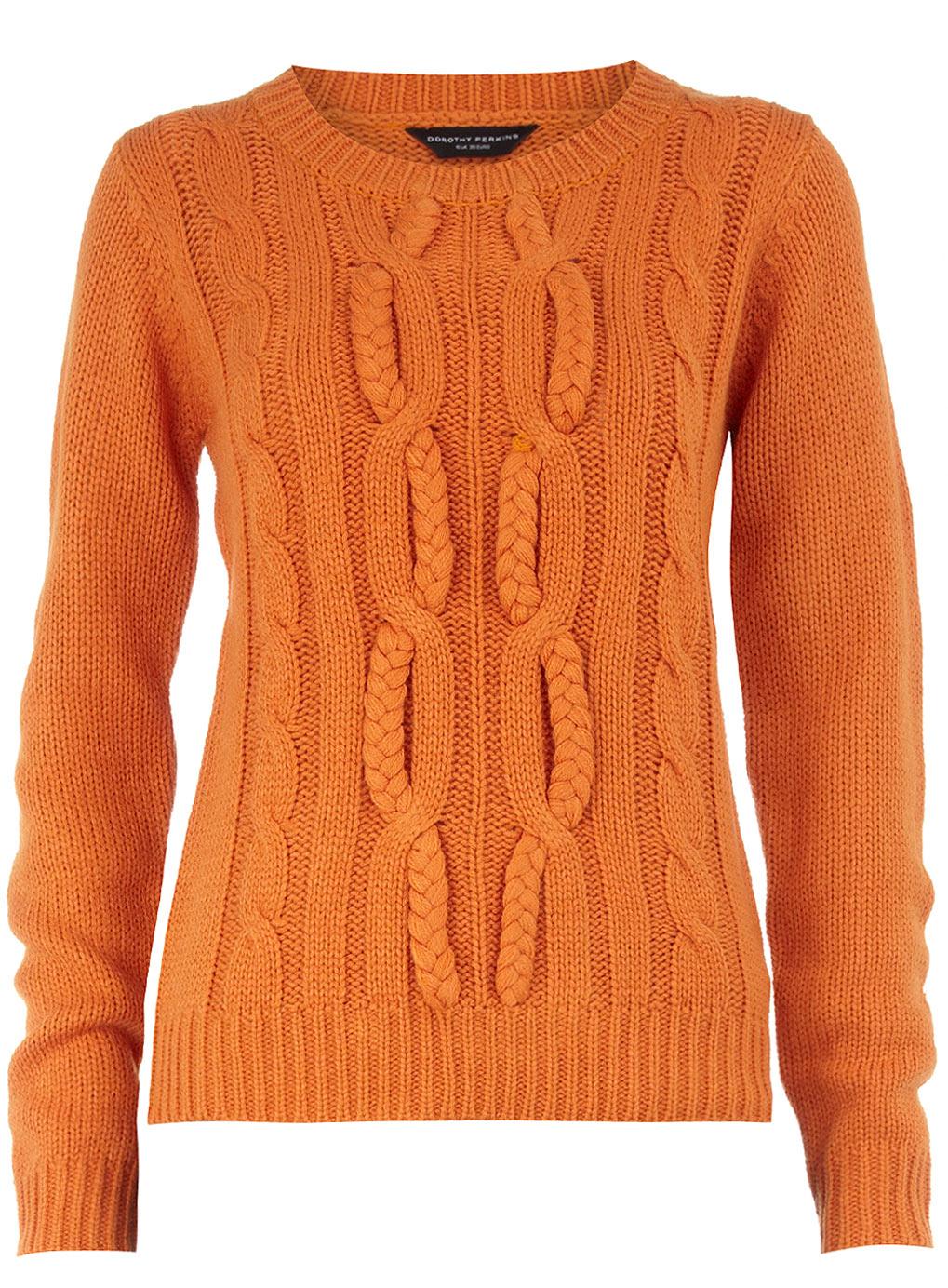 Orange Cabled Sweater – Craftbnb