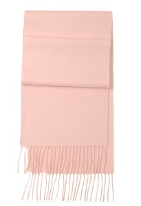 Pink Cashmire Scarf from Uniqlo