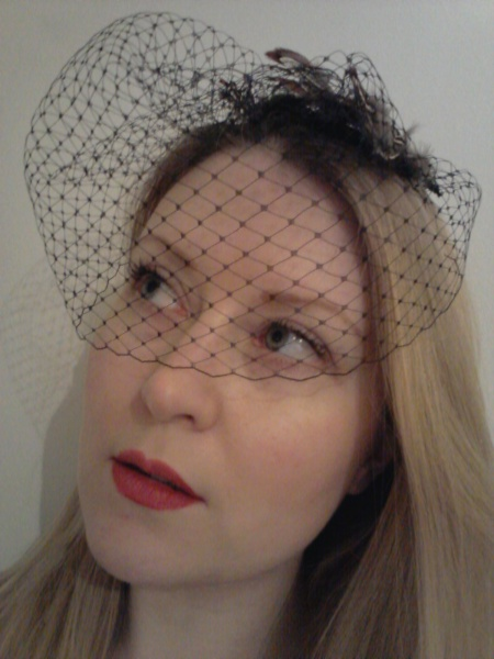 My finished birdcage veil