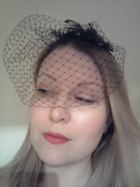 My birdcage veil will help me get into character