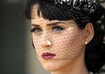 Katy Perry Birdcage Veil