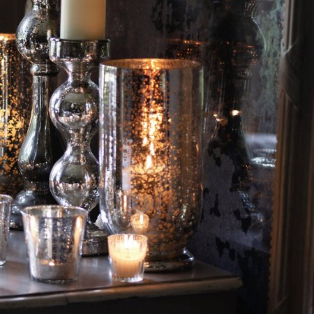 Antiqued Hurricane Lamp