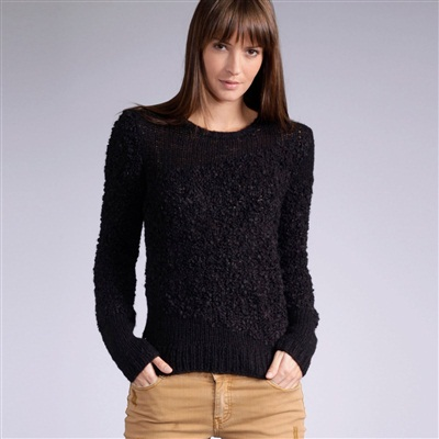 Slash Neck Boucle Sweater
