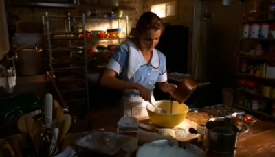Jenna in Waitress baking pies