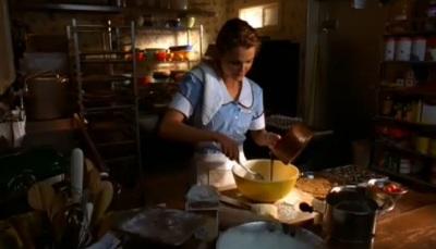 Jenna in Waitress baking pies