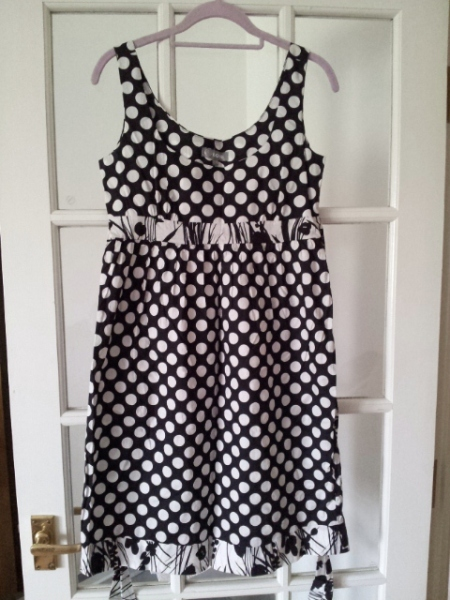 Black and white polka dot dress by Love Label
