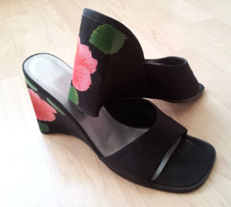 Black Floral Wedges from River Island