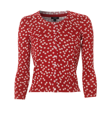 Cherry Red Print Cardigan from Hobbs