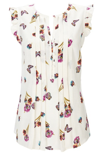 Wallis Butterfly Frill Blouse