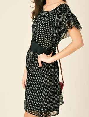Black Perla polka spot dress