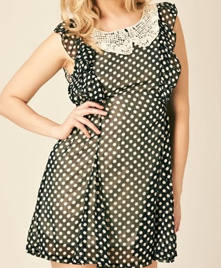 Black Velma spot dress