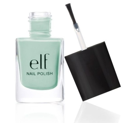 e.l.f nail polish in mint cream