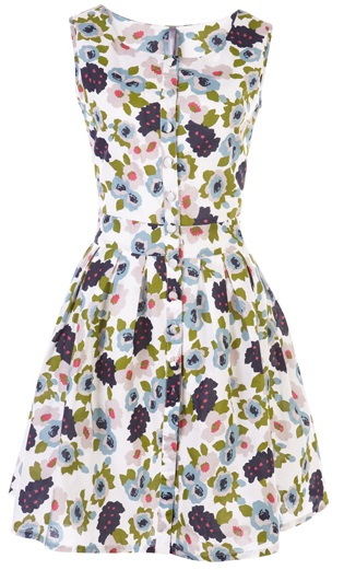 Floral Button Summer Dress