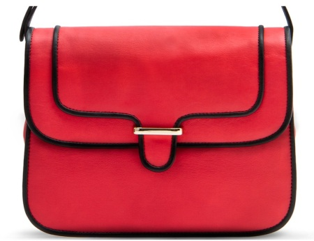 Mango Messenger Bag with Coloured Edges