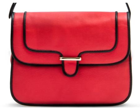Mango Messenger Bag with Coloured Edges