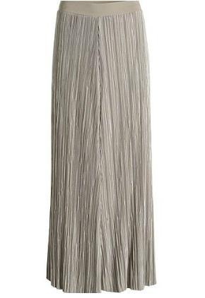Metallic mini pleated maxi skirt from Esprit