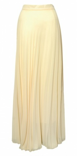 Rare lemon pleated maxi skirt