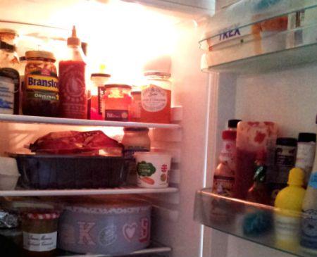 The contents of my fridge