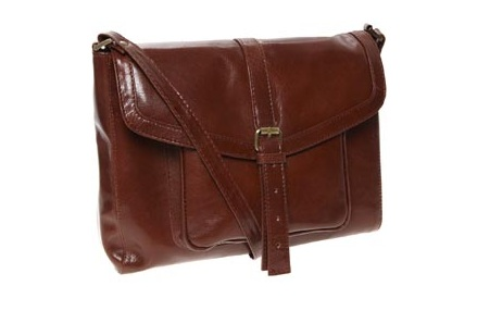 TK Maxx Tan Leather Satchel Style Cross Body