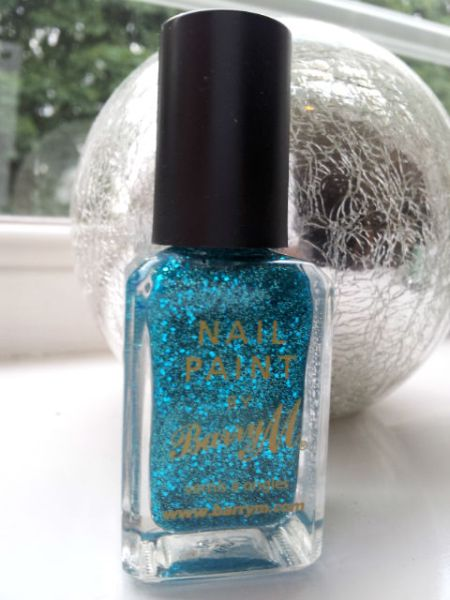 Barry M Aqua Glitter Nail Paint