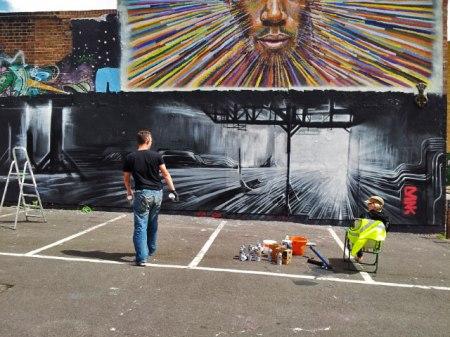 New Street Art Being Created