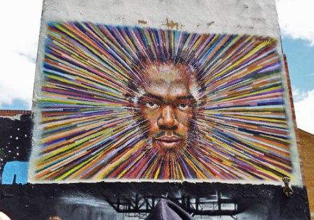 Jimmy C Olympic Inspired Street Art featuring Usain Bolt