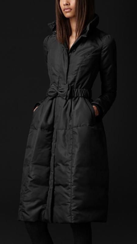 Burberry Bow Belt Down Coat