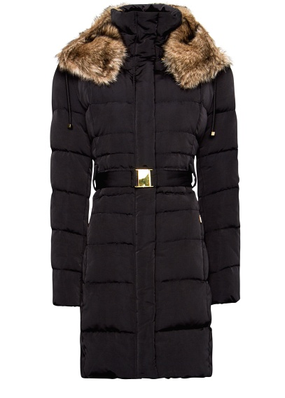 Mango Furry Hood Quilted Coat