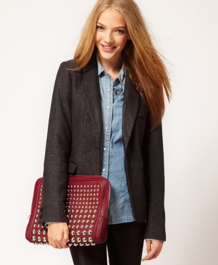 Pepe Jeans Tailored Tweed Jacket