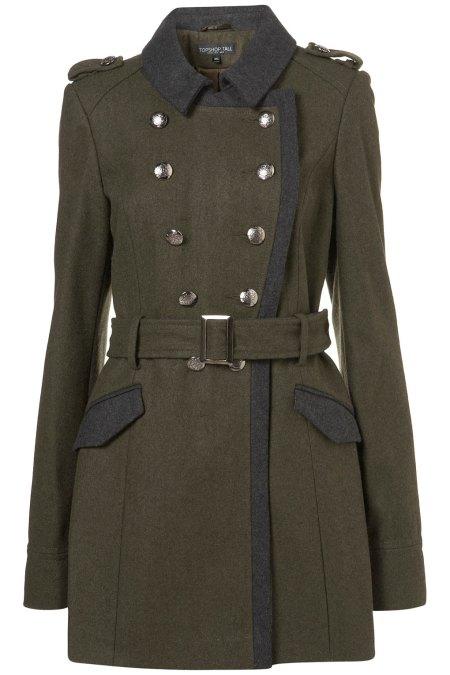 Topshop Military Coat