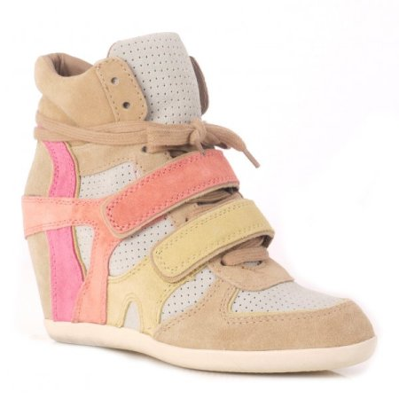 Ash Bixi Multi Peach and Banana Hi Top Trainers