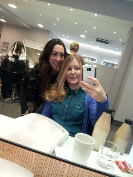 Me and my hairdresser, Gema