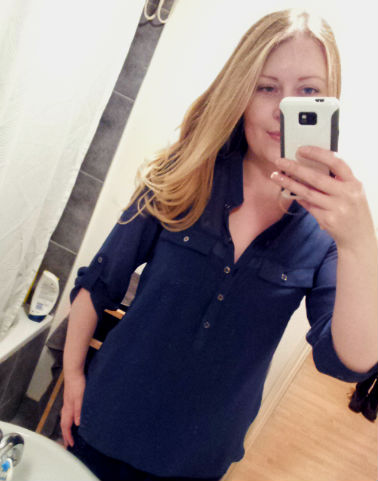 Blue blouse from TKMaxx