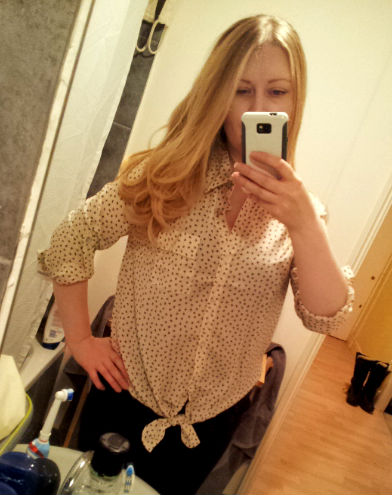 Blouse with tiny bow pattern from TKMaxx