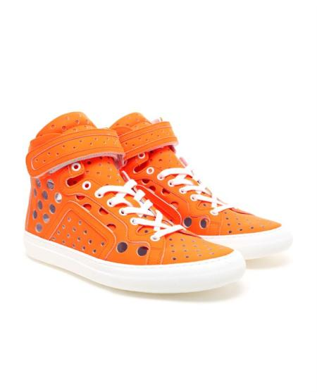 Pierre Hardy Perforated Leather Hi Top Trainers