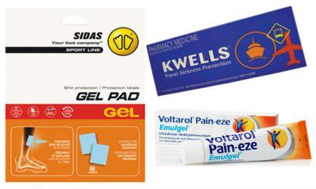Ski Essentials, Voltarol, Kwells, Gel Pads