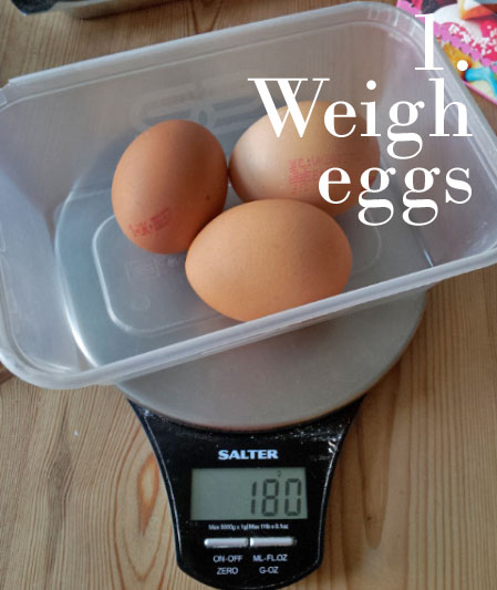 Weigh your eggs, shells on