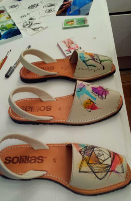 Hand Painted Sandals
